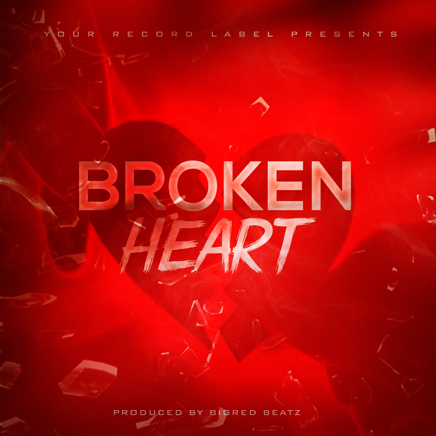 Broken hearts free album cover template for Free mixtape covers templates