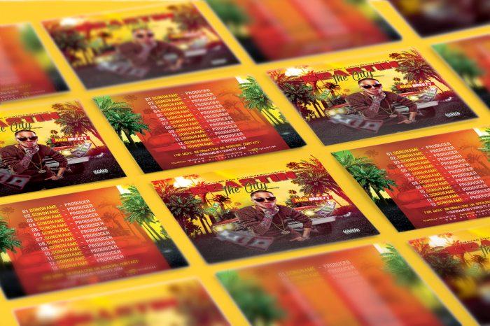 Coasting The City Mixtape Cover mixtape psd album cover template