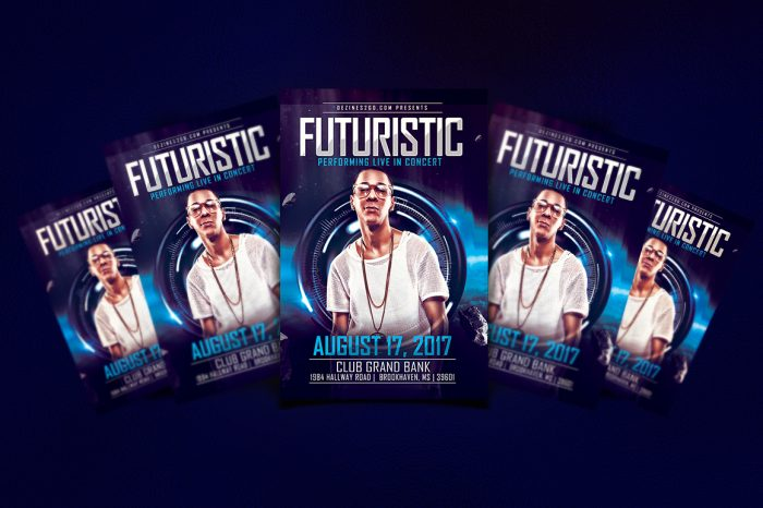 Futuristic Artist and DJ Flyer Template