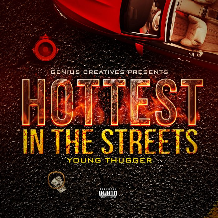 Hottest in the Streets Mixtape Cover template design