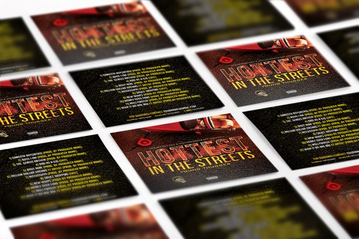Hottest in the Streets mixtape psd album cover template