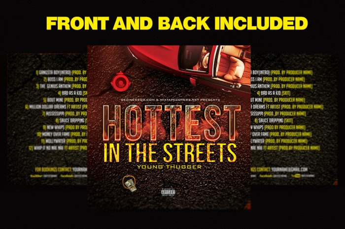 Hottest in the Streets Mixtape Cover Template
