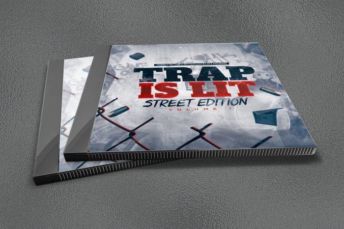 Trap is Lit premium mixtape cover template 2
