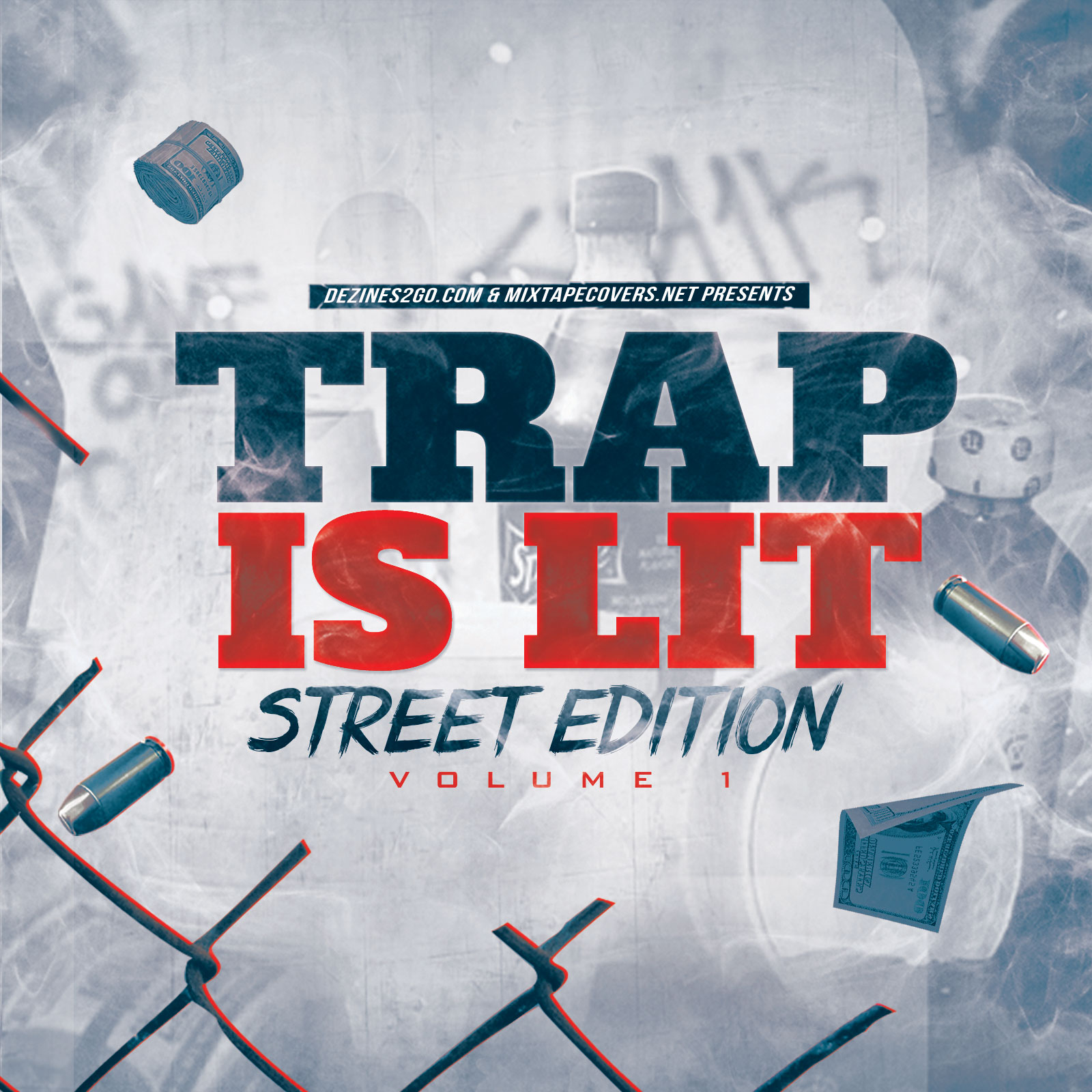 Trap is lit for Free mixtape covers templates