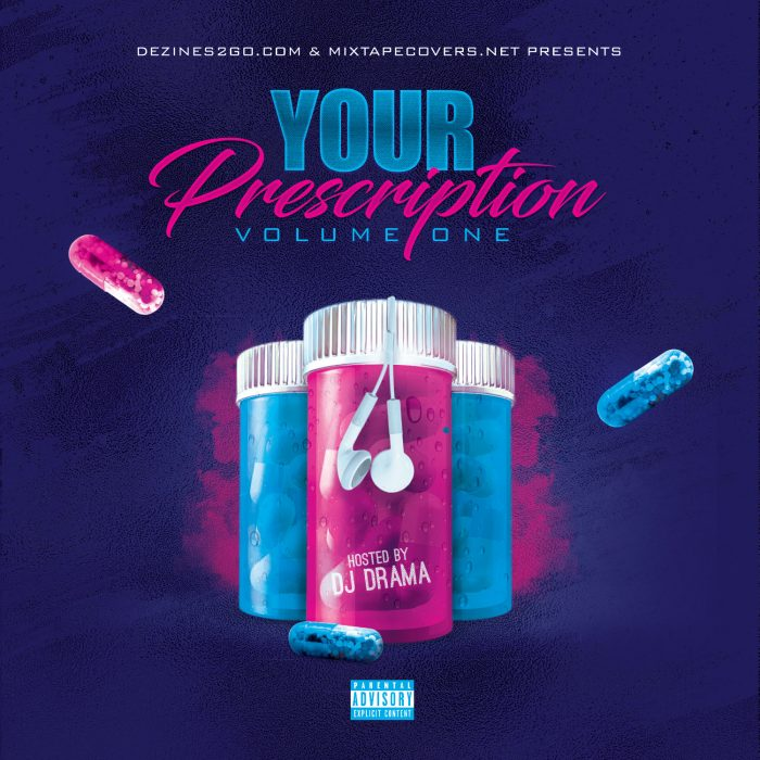 Your Prescription Mixtape Cover Design Template