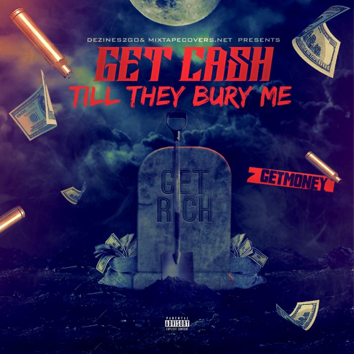 Get Cash mixtape psd album cover template