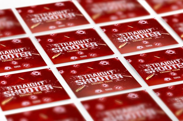 Straight Shooter Mixtape mixtape psd album cover template
