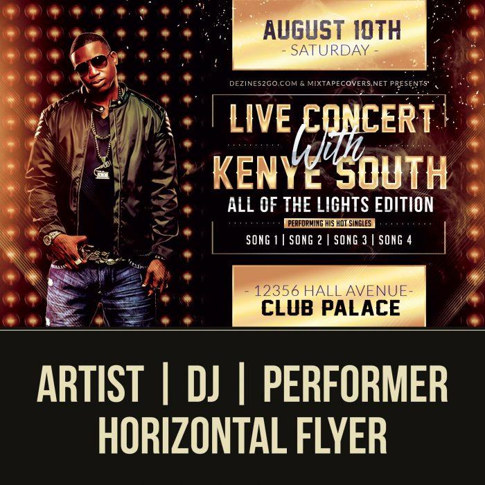 Performer Artist and DJ Flyer Flyer Psd artist
