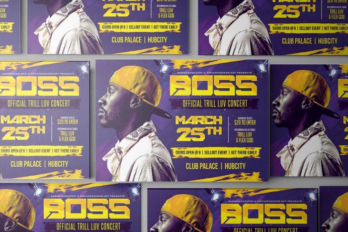 Boss Artist and DJ Flyer Flyer Psd artist