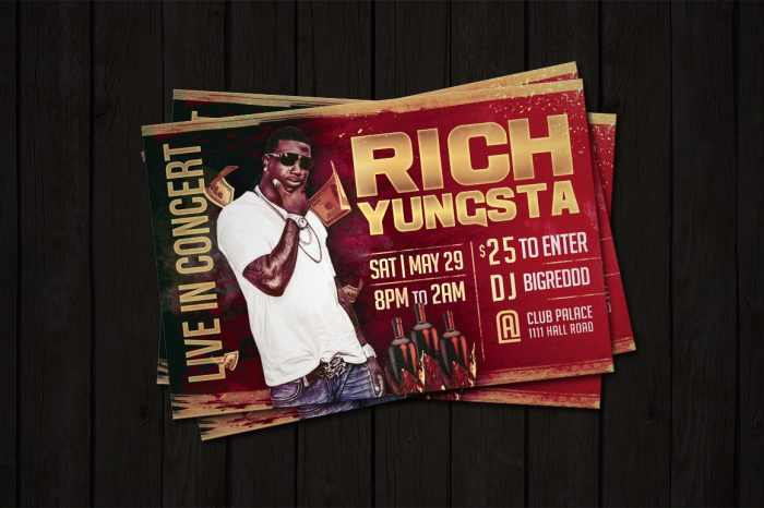Concert Artist & DJ Flyer Template Flyer Psd artist