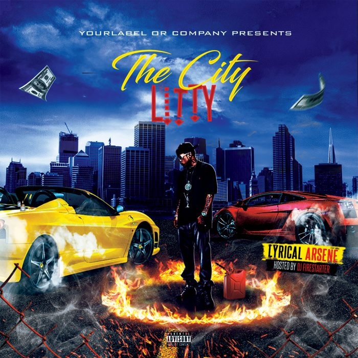 The City Litty Mixtape Cover mixtape psd album cover template