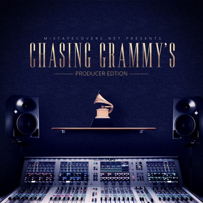 Chasing Grammys free mixtape cover design (retired Free Mixtape Cover Templates album cover