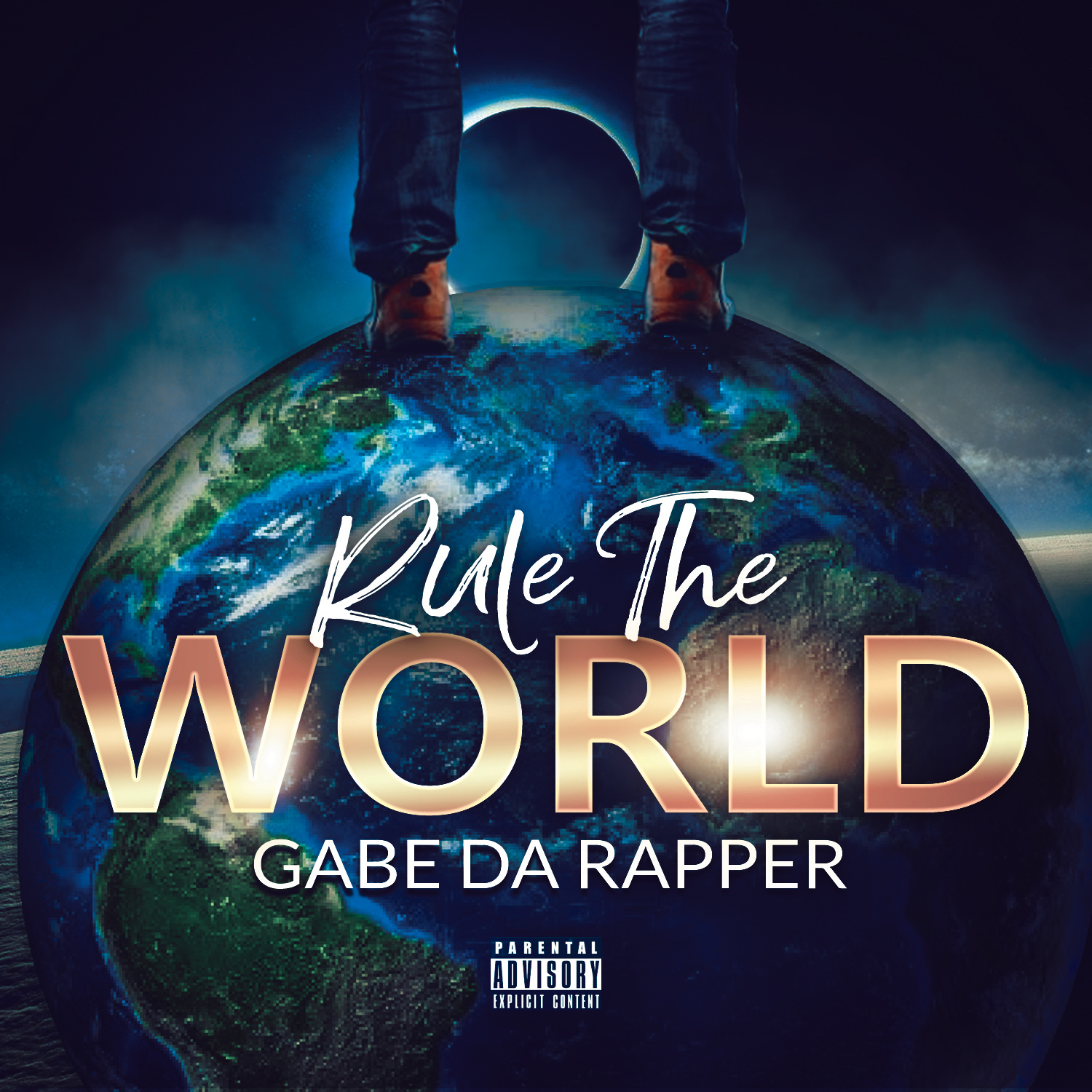 rule the world mixtape cover template design