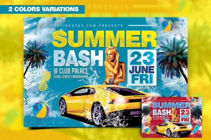 Summer Bash Flyer Template Flyer Psd artist