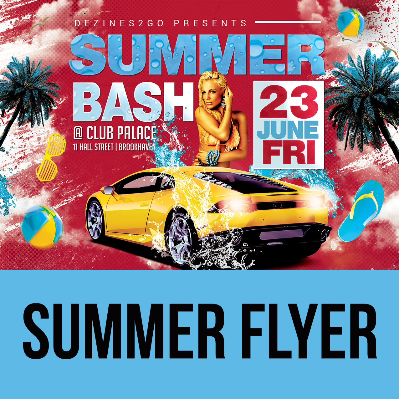 Summer bash flyer template design psd mixtapecovers summer bash flyer template saigontimesfo