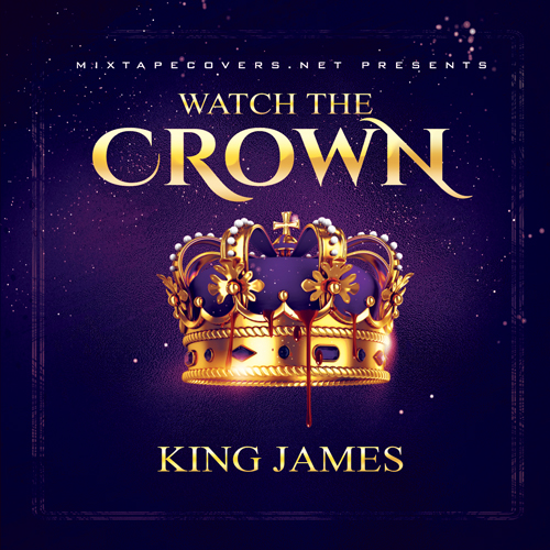 Watch the Crown mixtape psd album cover template