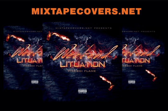 Weekend Lituation mixtape psd album cover template