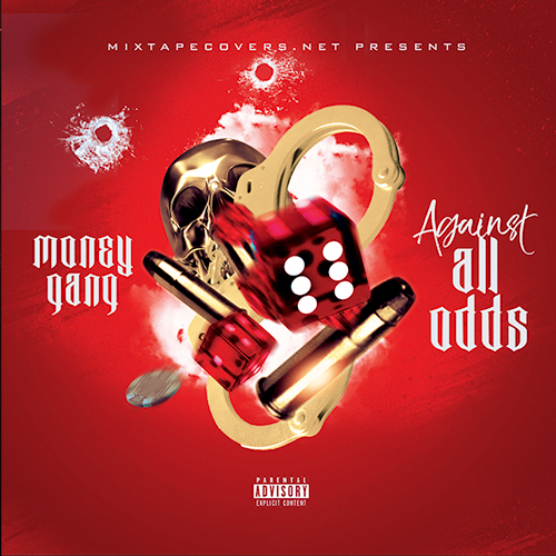 Against all Odds mixtape psd album cover template