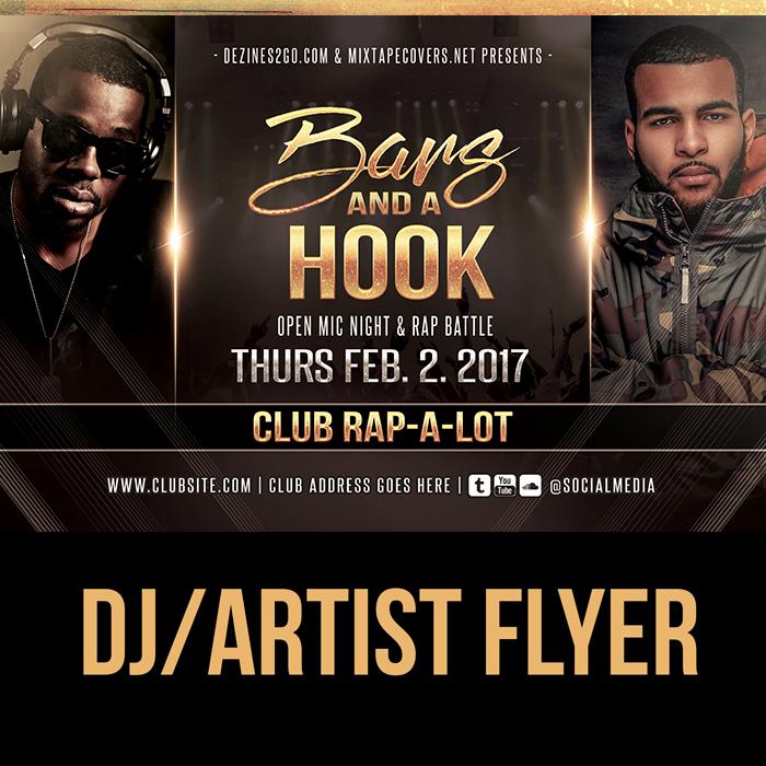 Hip Hop Battle Or Open Mic Artist And Dj Flyer Template