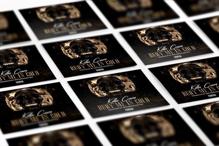 Bury Me In Gold mixtape psd album cover template