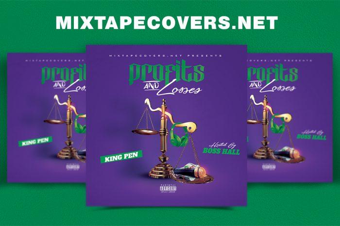 Profits and Losses mixtape psd album cover template