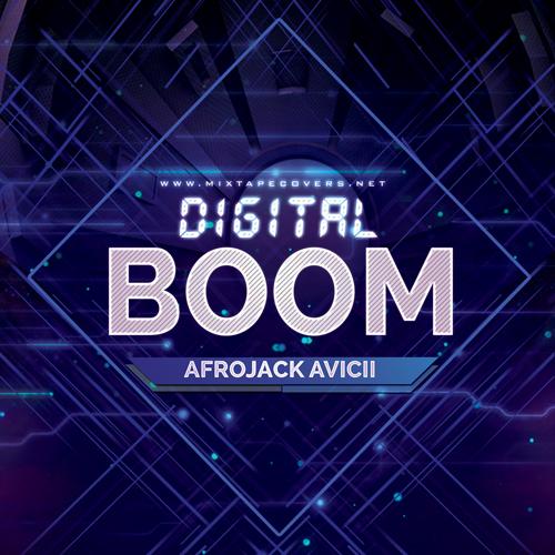Digital Boom Edm  Cover Template album cover album cover
