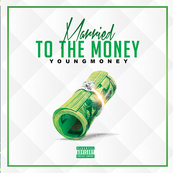 Married to the Money mixtape psd album cover template