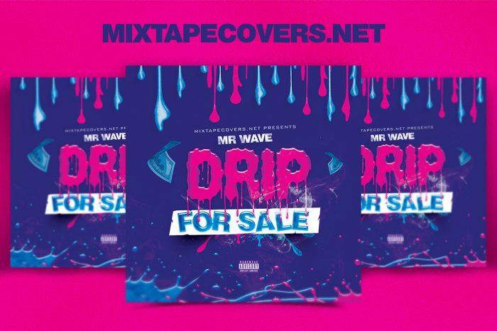 Drip for Sale mixtape psd album cover template
