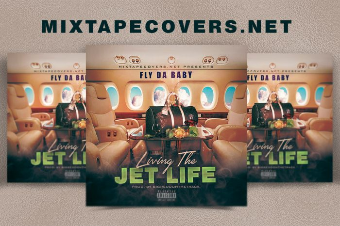 Living  the Jet Life mixtape psd album cover template