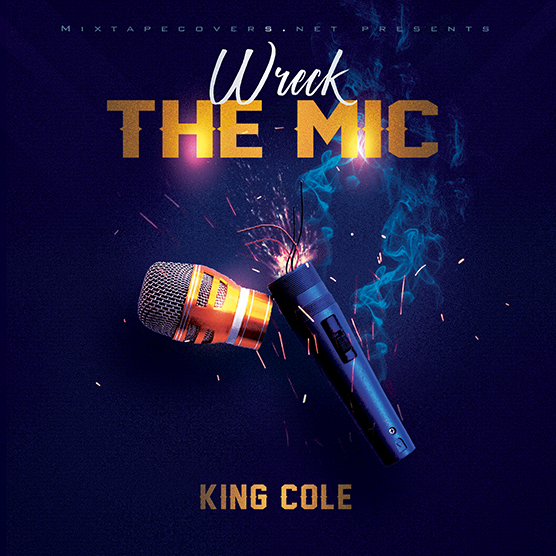 Wreck the mic mixtape psd album cover template