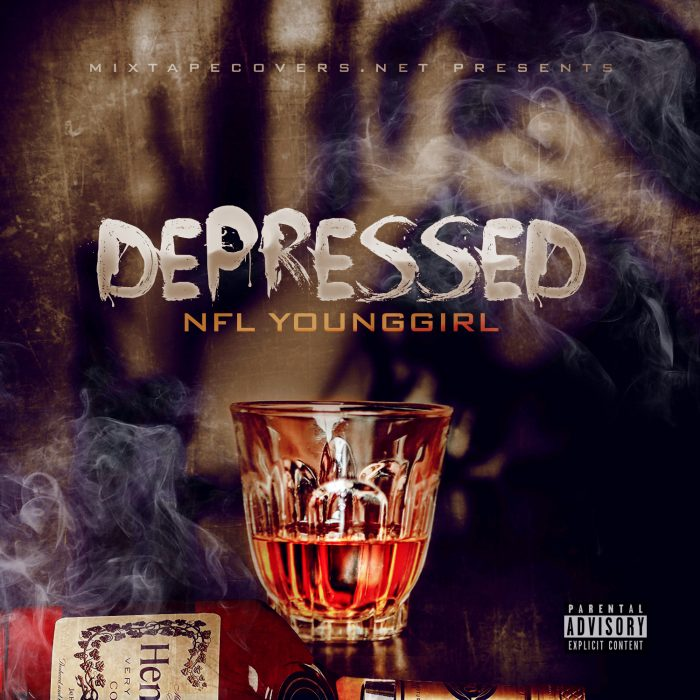 DEPRESSED Mixtape cover template (RETIRED) Free Mixtape Cover Templates album cover