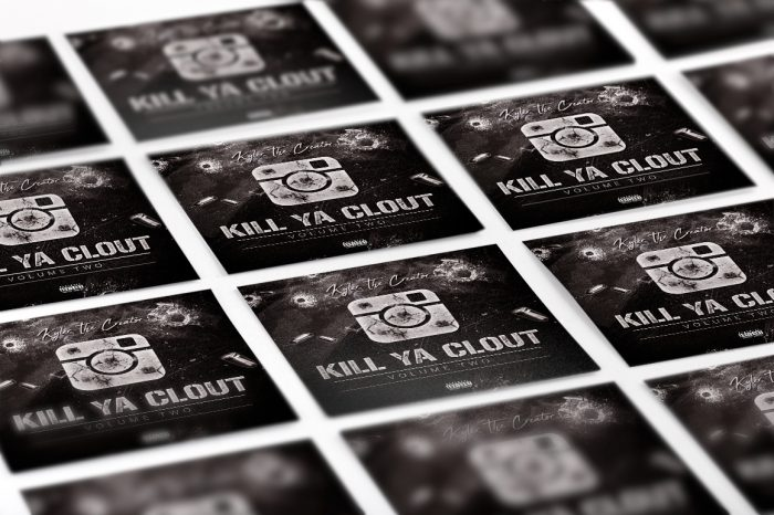 Kill ya clout mixtape psd album cover template