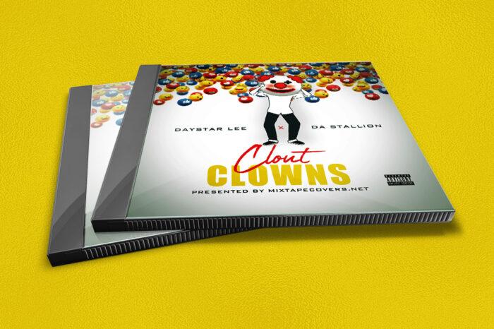 Clout Clowns mixtape psd album cover template