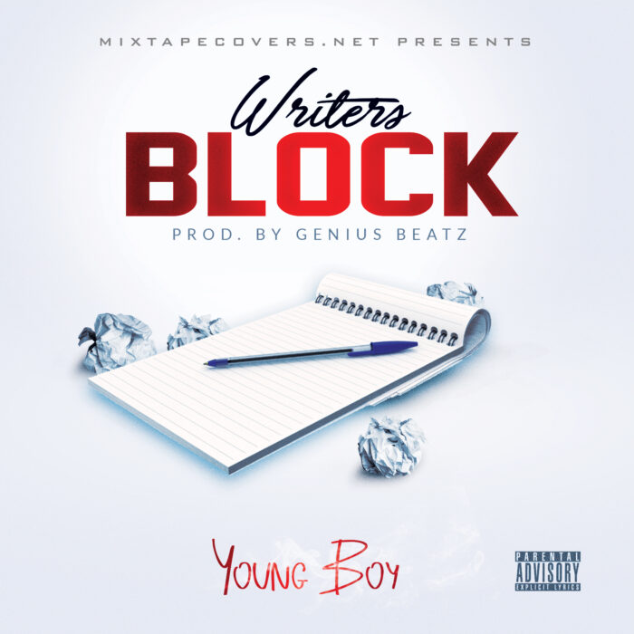 Writer's Block free mixtape cover template only at www.mixtapecovers.net