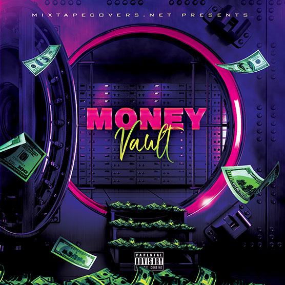 The Money Vault Mixtape Template mixtape psd album cover template