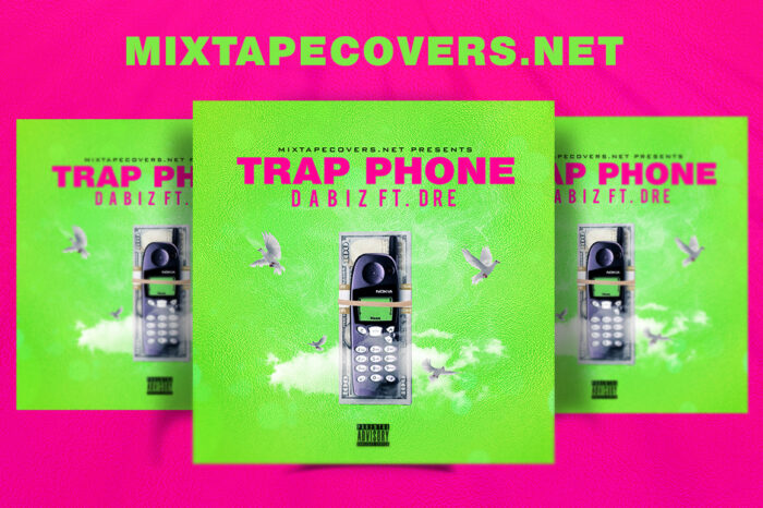TRAP PHONE Mixtape Cover Templates album cover album cover