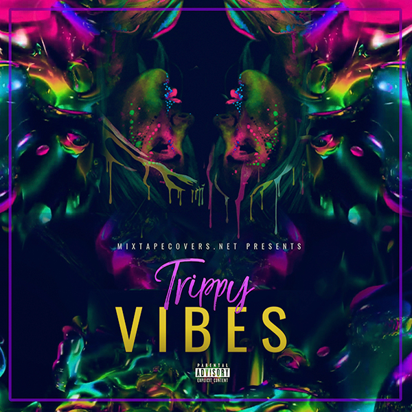 Trippy-Vibes-mixtape-cover-template design for trippy music and artist