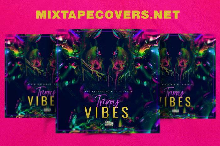 Trippy vibes Mixtape Cover mixtape psd album cover template