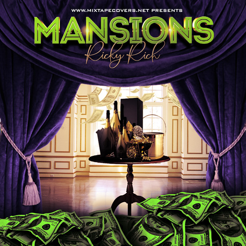 Mansions Free Mixtape Cover Template Free Mixtape Cover Templates album cover